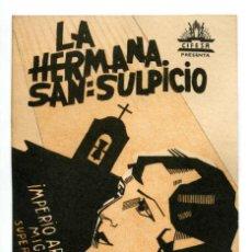 Folhetos de mão de filmes antigos de cinema: LA HERMANA SAN SUPLICIO, CON IMPERIO ARGENTINA. FACSÍMIL.. Lote 287408338