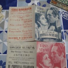 Folhetos de mão de filmes antigos de cinema: F594 PROGRAMA DE MANO ORIGINAL EL DE LA FOTO. Lote 287445098