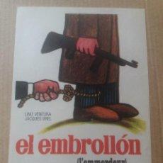 Folhetos de mão de filmes antigos de cinema: EL EMBROLLON. Lote 287544388