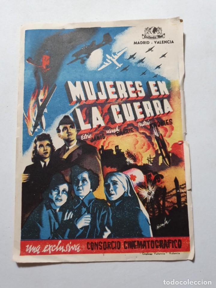 PROGRAMA DE CINE GRANDE CON PUBLICIDAD ESTADO NORMAL DE EPOCA MAS ARTICULOS (Cine - Folletos de Mano - Bélicas)