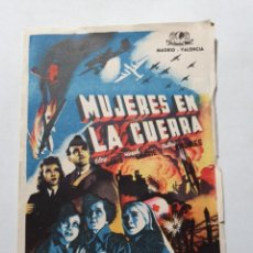 Folhetos de mão de filmes antigos de cinema: PROGRAMA DE CINE GRANDE CON PUBLICIDAD ESTADO NORMAL DE EPOCA MAS ARTICULOS. Lote 287629063