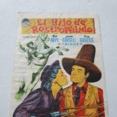 Folhetos de mão de filmes antigos de cinema: PROGRAMA DE CINE CON PUBLICIDAD DE EPOCA ESTADO NORMAL MAS ARTICULOS. Lote 287629538