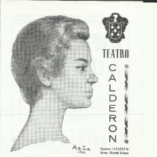 Cine: PTCC 077 MARIA FERNANDA D'OCON FELIX DAFAUCE ROBERTO FONT PROGRAMA TEATRO LA SIRENA VARADA 1962. Lote 287631558