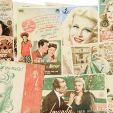 Cine: M202 FRED ASTAIRE & GINGER ROGERS: LOTE 10 PROGRAMAS DE CINE. Lote 287697023