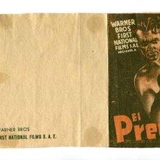 Folhetos de mão de filmes antigos de cinema: EL PREDILECTO, CON JAMES CAGNEY.. Lote 287701668
