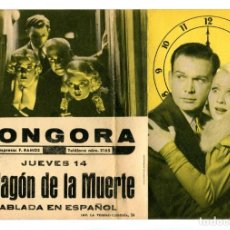 Cine: EL VAGÓN DE LA MUERTE, CON CHARLIE RUGGLES.. Lote 287720548
