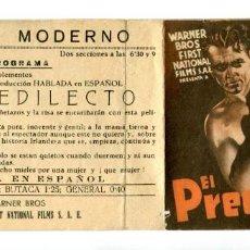 Folhetos de mão de filmes antigos de cinema: EL PREDILECTO, CON JAMES CAGNEY.. Lote 287739173