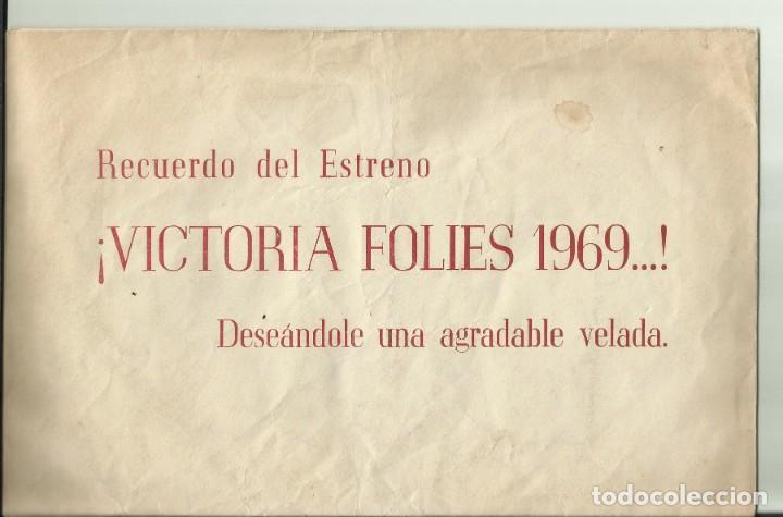 Cine: PTCC 077 MARY SANTPERE JOAQUIN GASA PROGRAMA TEATRO TROQUELADO SOBRE + TELA VICTORIA FOLIES 1969 - Foto 2 - 287748153