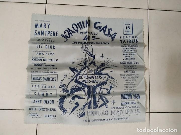 PTCC 077 MARY SANTPERE JOAQUIN GASA PROGRAMA TEATRO TROQUELADO SOBRE + TELA VICTORIA FOLIES 1969 (Cine - Folletos de Mano - Clásico Español)