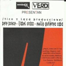 Folhetos de mão de filmes antigos de cinema: PTCC 076 ANIMIA DE CARIÑO PROGRAMA SENCILLO CINE ESPAÑOL SHERLOCK EMILIO GUTIERREZ CABA PERE PONCE. Lote 287748273