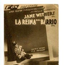 Cine: LA REINA DEL BARRIO, JANE WITHERS.. Lote 287755828