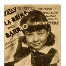 Cine: LA REINA DEL BARRIO, JANE WITHERS.. Lote 287756143