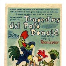 Cine: LAS TRAGEDIAS DEL PATO DONALD. DIBUJOS ANIMADOS.. Lote 287757343