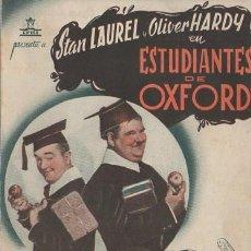 Cine: PROGRAMA DOBLE DE CINE. ESTUDIANTES DE OXFORD. PC-4867. Lote 287783703