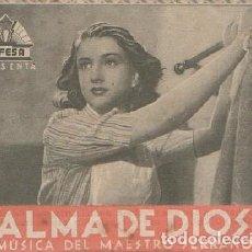Cine: PROGRAMA DOBLE DE CINE. ALMA DE DIOS. PC-4868. Lote 287784098