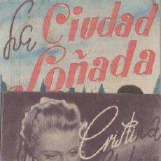 Cine: PROGRAMA DOBLE DE CINE. LA CIUDAD SOÑADA PC-4870. Lote 287785113