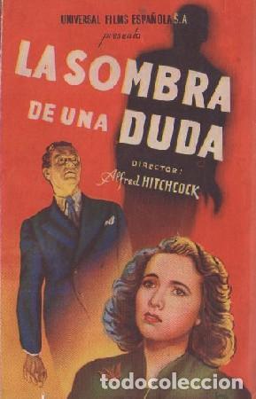 PROGRAMA DOBLE DE CINE. LA SOMBRA DE UNA DUDA. PC-4871 (Cine - Folletos de Mano - Comedia)
