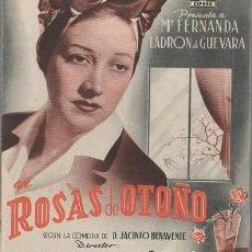 Cine: PROGRAMA DOBLE DE CINE. ROSAS DE OTOÑO. PC-4875. Lote 287787658