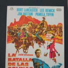 Cine: LA BATALLA DE LAS COLINAS DEL WHISKY, BURT LANCASTER, CINES BOHEMIO Y GALILEO, 1968. Lote 287820448