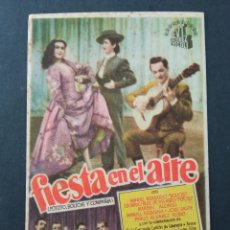 Folhetos de mão de filmes antigos de cinema: FIESTA EN EL AIRE, CINE CAPITOL. Lote 287820568
