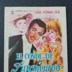 Cine: EL CONDE DE LUXEMBURGO, GERMAINE DAMAR. Lote 287820758