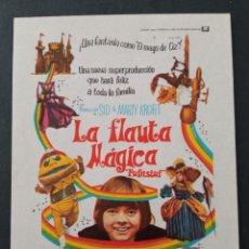 Foglietti di film di film antichi di cinema: LA FLAUTA MÁGICA. Lote 287820968