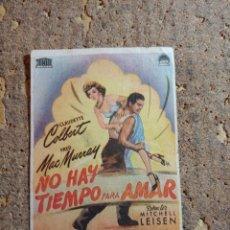 Cine: FOLLETO DE MANO DE LA PELICULA NO HAY TIEMPO PARA AMAR CON PUBLICIDAD. Lote 287841098