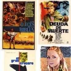 Cine: FOLLETOS 4 PROGRAMAS DE MANO ORIGINALES EN PERFECTO ESTADO CON PUBLICIDAD DEL CINE LOTE 6. Lote 287864268