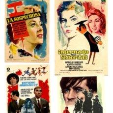 Cine: FOLLETOS 4 PROGRAMAS DE MANO ORIGINALES EN PERFECTO ESTADO CON PUBLICIDAD DEL CINE LOTE 7. Lote 287864523