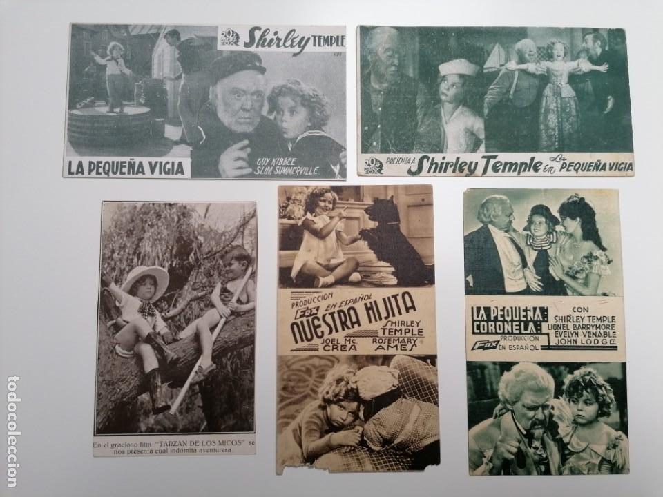 50. LOTE 5 PROGRAMAS CINE SHIRLEY TEMPLE TARZAN CINEMA CORONELA USA PEQUEÑA VIGIA HIJITA Y MAS (Cine - Folletos de Mano - Comedia)