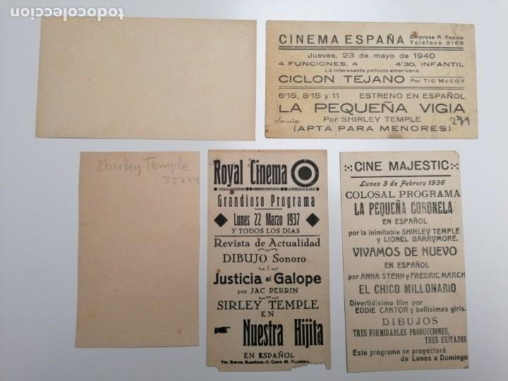 Cine: 50. LOTE 5 PROGRAMAS CINE SHIRLEY TEMPLE TARZAN CINEMA CORONELA USA PEQUEÑA VIGIA HIJITA Y MAS - Foto 2 - 287892598