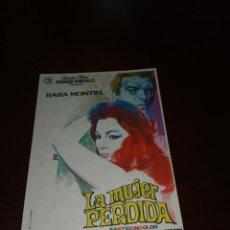 Cine: PROGRAMA DE MANO ORIG - LA MUJER PERDIDA - CON CINE DE YECLA IMPRESO AL DORSO. Lote 287938468
