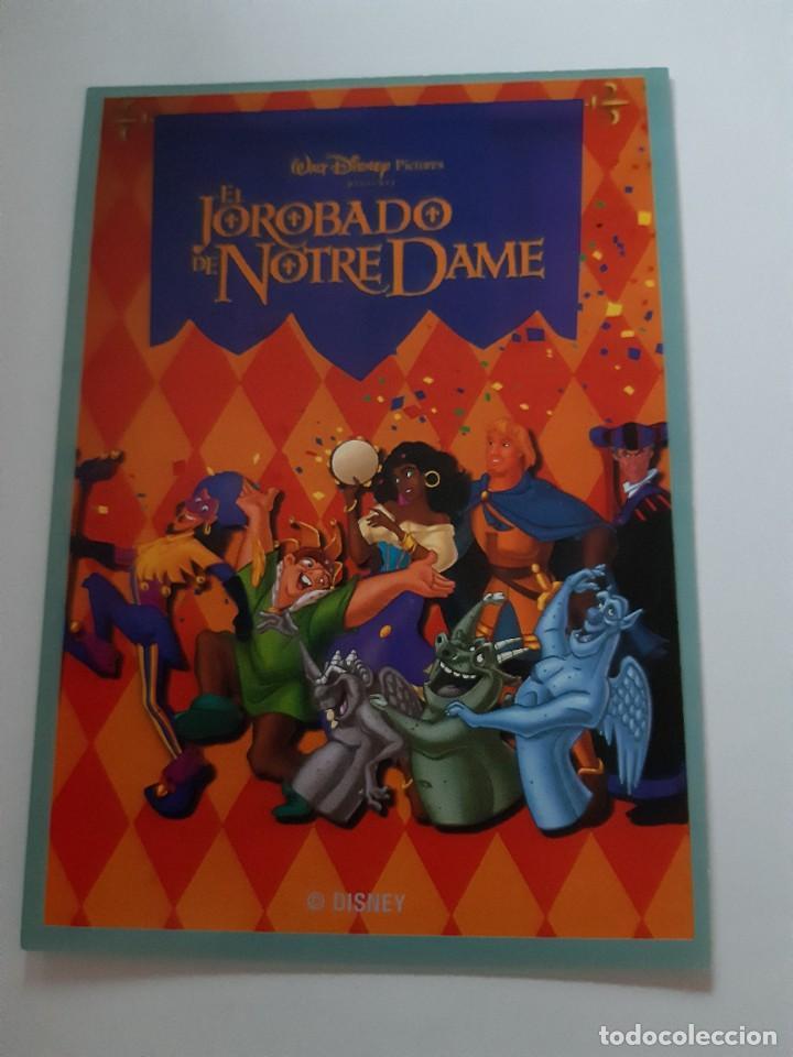 PROGRAMA FOLLETO DE MANO - EL JOROBADO DE NOTRE DAME WALT DISNEY (Cine - Folletos de Mano - Infantil)