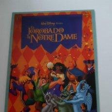 Cine: PROGRAMA FOLLETO DE MANO - EL JOROBADO DE NOTRE DAME WALT DISNEY. Lote 287943253