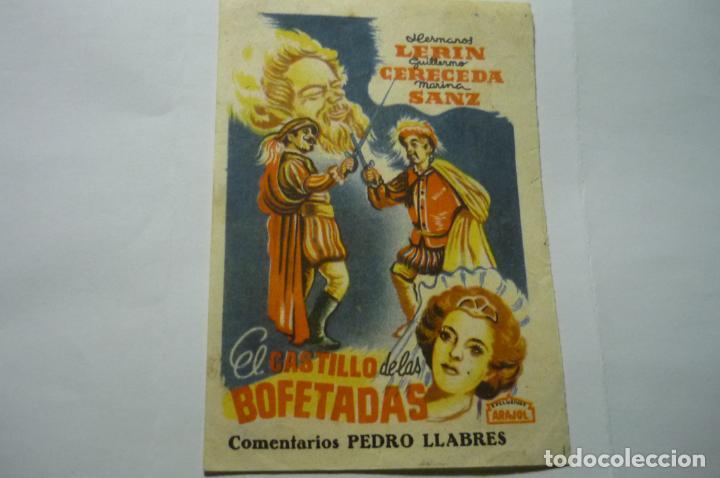 PROGRAMA PEQUEÑO EL CASTILLO DE LAS BOFETADAS.--ARAJOL (Cine - Folletos de Mano - Infantil)