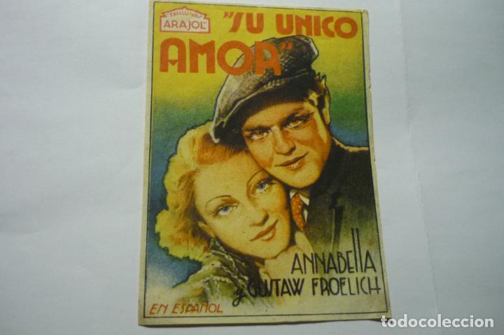 PROGRAMA SU UNICO AMOR.- ANNABELLA (Cine - Folletos de Mano - Drama)