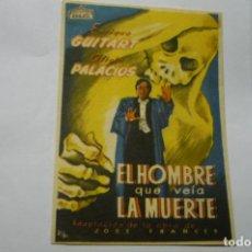 Cine: PROGRAMA EL HOMBRE QUE VEIA LA MUERTE.- ENRIQUE GUITART. Lote 287960638