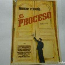 Cine: PROGRAMA EL PROCESO ANTHONY PERKINS. Lote 287960783