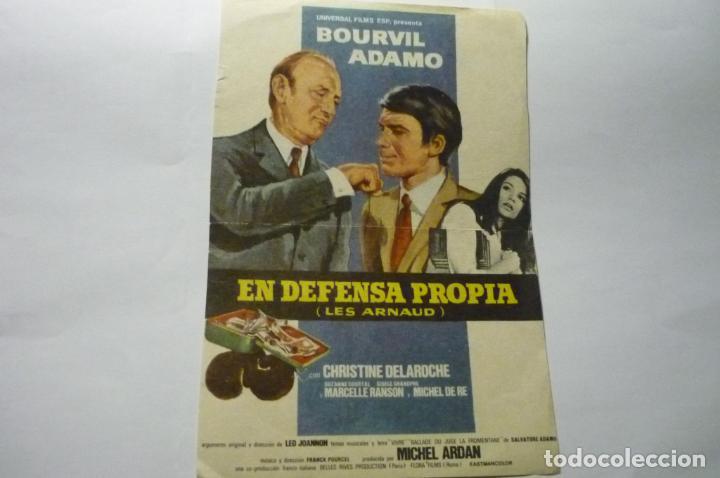 PRPGRAMA EN DEFENSA PROPIA .-ADAMO (Cine - Folletos de Mano - Drama)