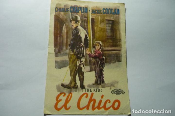 PROGRAMA EL CHICO CHARLES CHAPLIN PUBLICIDAD (Cine - Folletos de Mano - Drama)