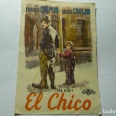 Cine: PROGRAMA EL CHICO CHARLES CHAPLIN PUBLICIDAD. Lote 287961063