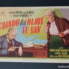 Cine: CUANDO LOS HIJOS SE VAN, FERNANDO SOLER, CINE FANTASIO. Lote 287970568
