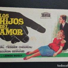Cine: LOS HIJOS DEL AMOR. Lote 287970618