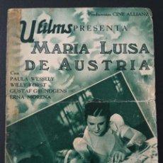 Cine: MARIA LUISA DE AUSTRIA, PAULA WESSELY. Lote 287970698