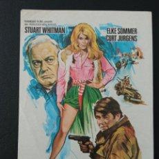 Folhetos de mão de filmes antigos de cinema: LOS HEROES, STUART WHITMAN. Lote 287972958