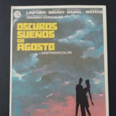 Folhetos de mão de filmes antigos de cinema: OSCUROS SUEÑOS DE AGOSTO, VIVECA LINFORD. Lote 287973298