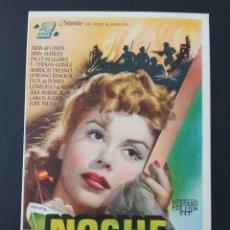 Cine: NOCHE SIN CIELO, JUAN DE LANDA. Lote 287973343