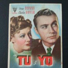 Cine: TU Y YO, IRENE DUNNE. Lote 287973398