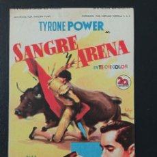 Cine: SANGRE Y ARENA, TYRONE POWER, RITA HAYWORTH, CINE BATEA, TARRAGONA. Lote 287974708