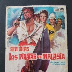 Folhetos de mão de filmes antigos de cinema: LOS PIRATAS DE MALASIA, STEVE REEVES. Lote 287980618